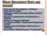 what religious text are there