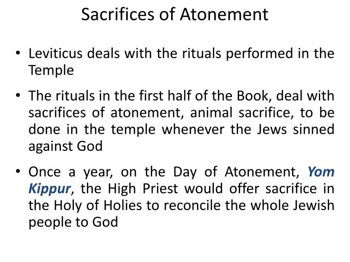 Sacrifices of Atonement