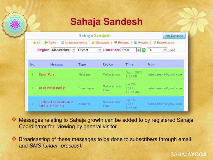 Sahaja Sandesh