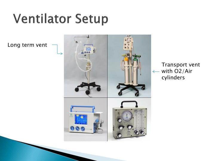 Ventilator Setup