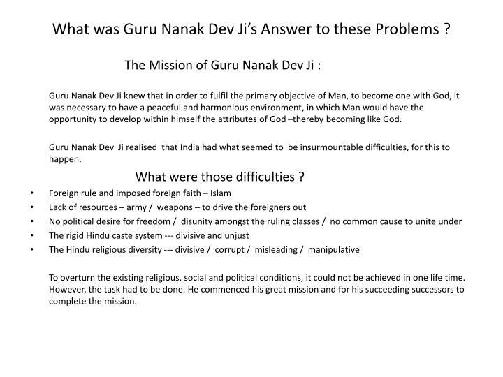 What was Guru Nanak Dev