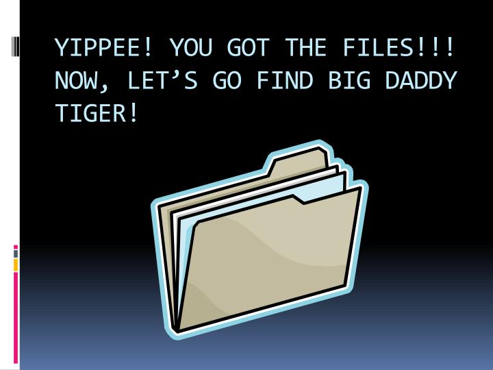 YIPPEE! YOU GOT THE FILES!!!