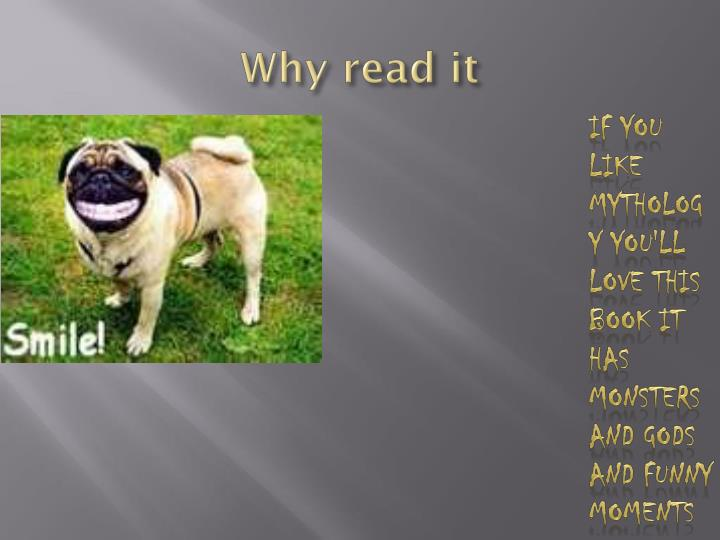 Why read it