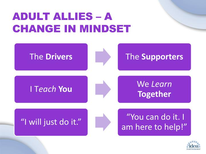 ADULT ALLIES – A CHANGE IN MINDSET