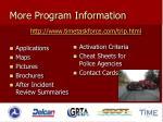 more program information