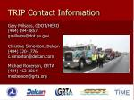 trip contact information