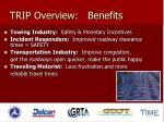 trip overview benefits