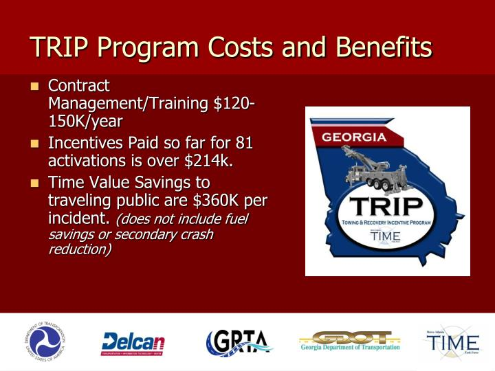 TRIP Program Costs and Benefits