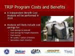 trip program costs and benefits1