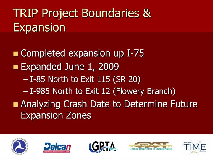 TRIP Project Boundaries & Expansion