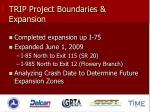 trip project boundaries expansion