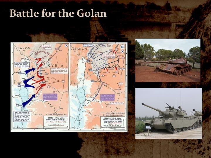 Battle for the Golan