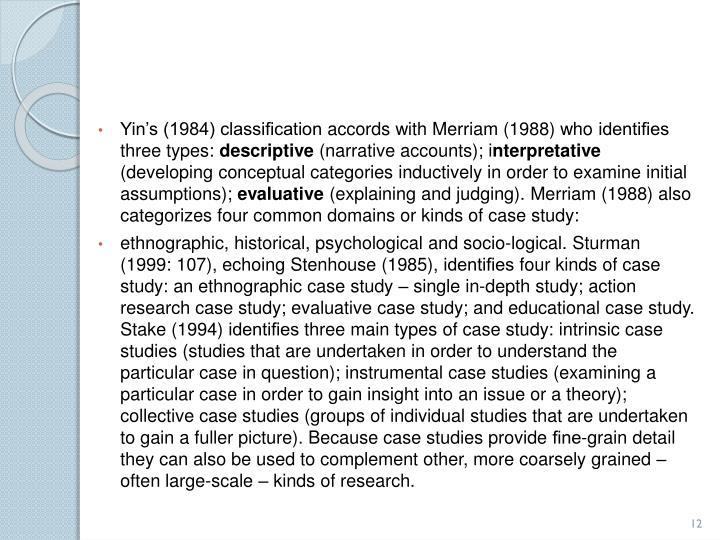 Yin's (1984)