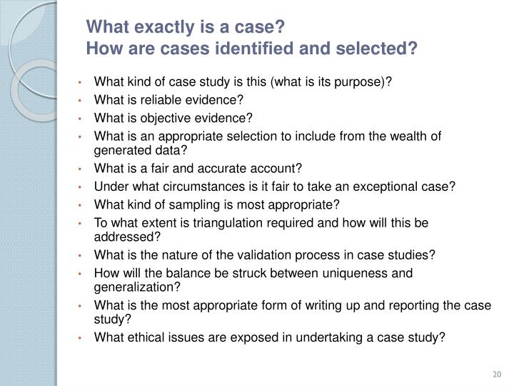 What exactly is a case?