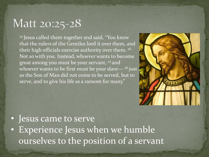 Matt 20:25-28