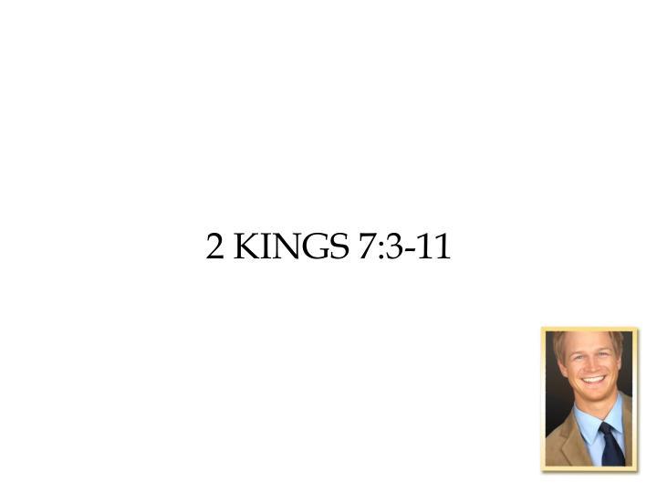 2 Kings 7:3-11