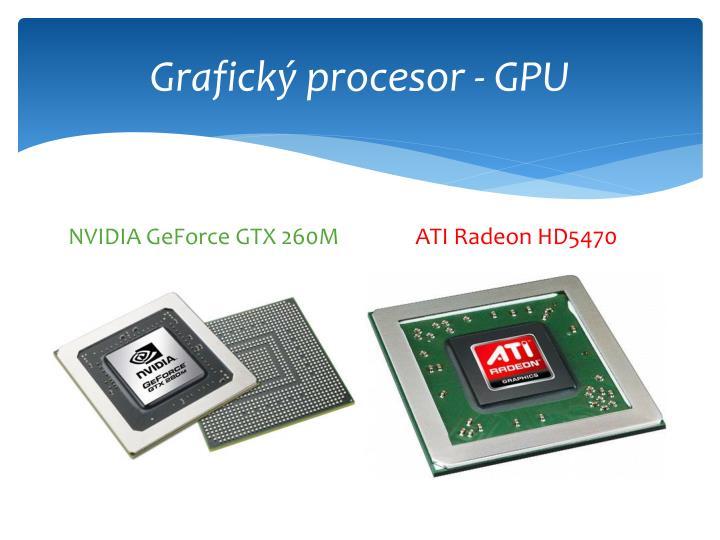 Grafický procesor - GPU