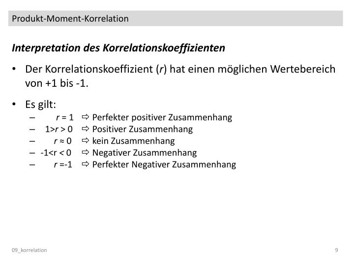 Produkt-Moment-Korrelation