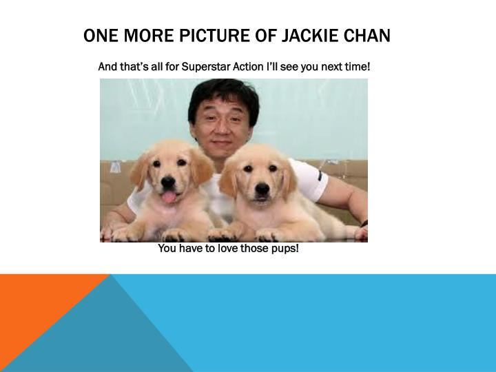 one more Picture of Jackie Chan