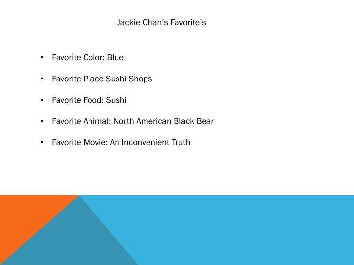 Jackie Chan's Favorite's