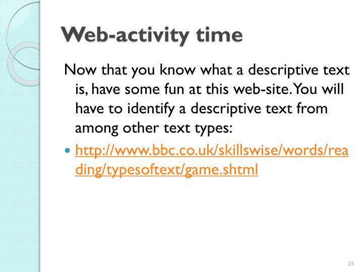 Web-activity time