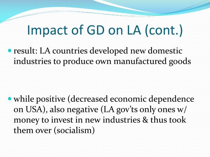 Impact of GD on LA (cont.)