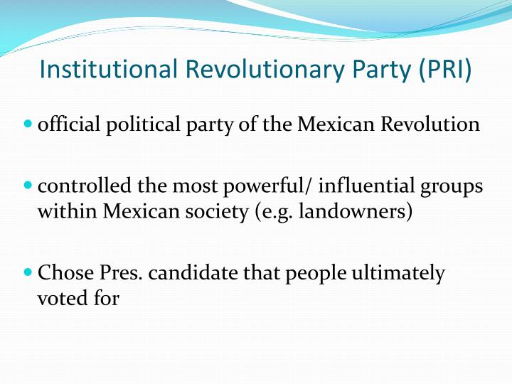 Institutional Revolutionary Party (PRI)