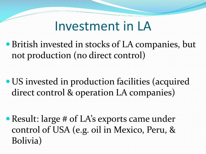 Investment in LA