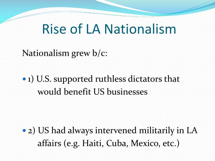 Rise of LA Nationalism