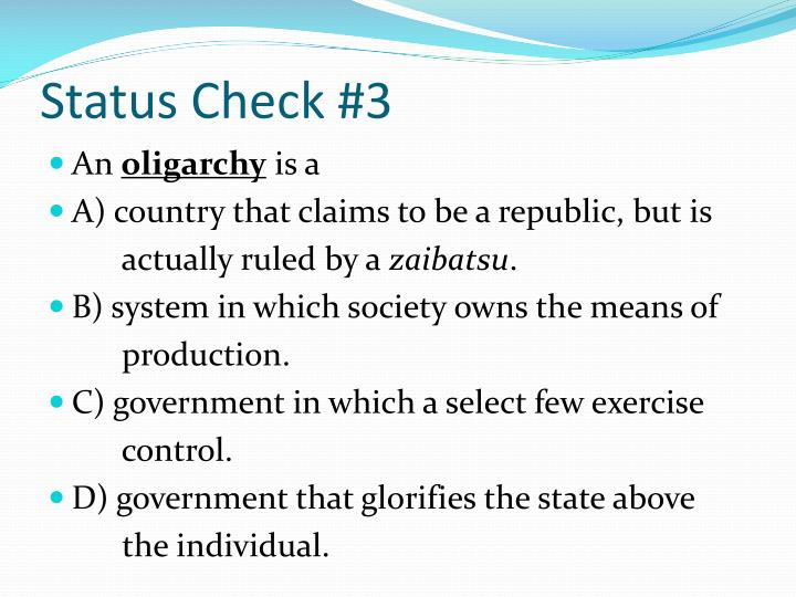 Status Check #3