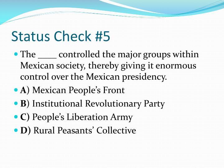 Status Check #5