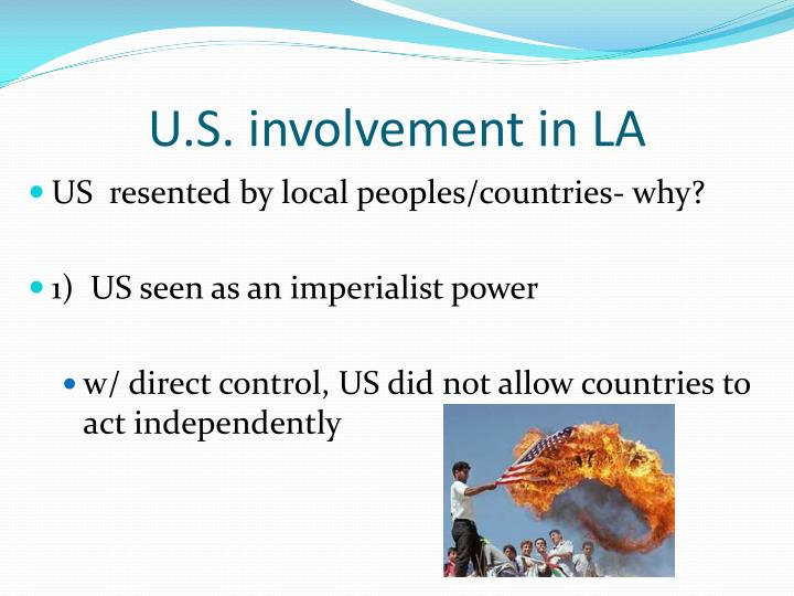 U s involvement in la