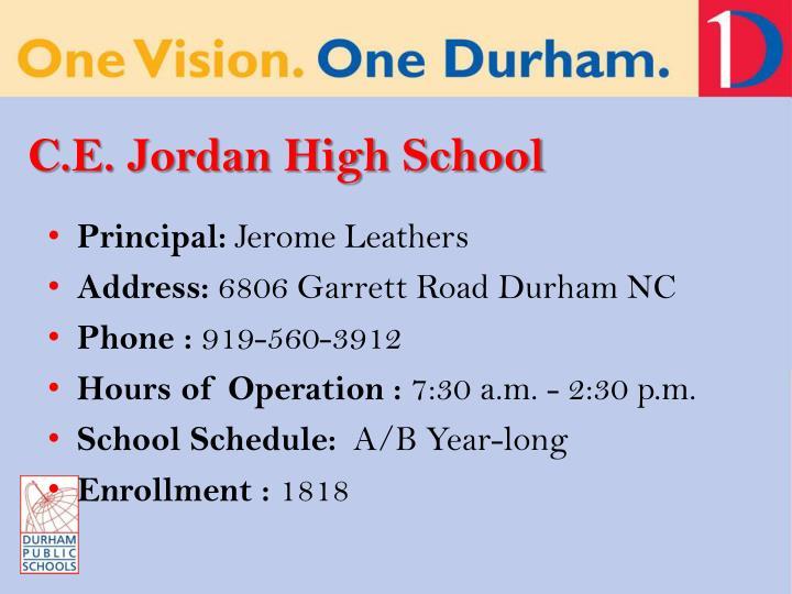 C.E. Jordan High School