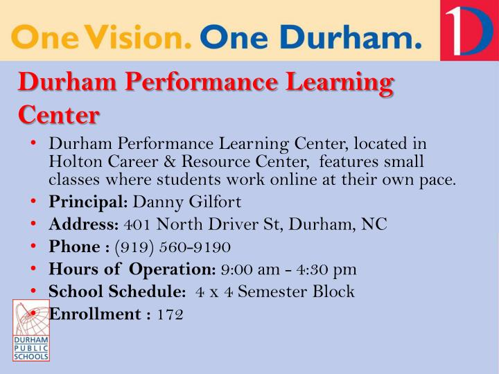 Durham Performance Learning Center