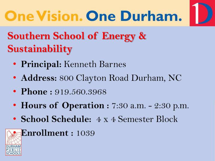 Southern School of Energy & Sustainability