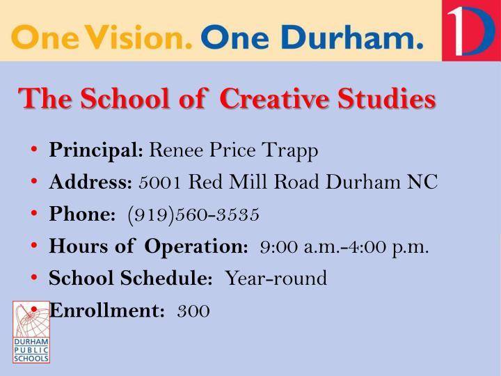 The School of Creative Studies