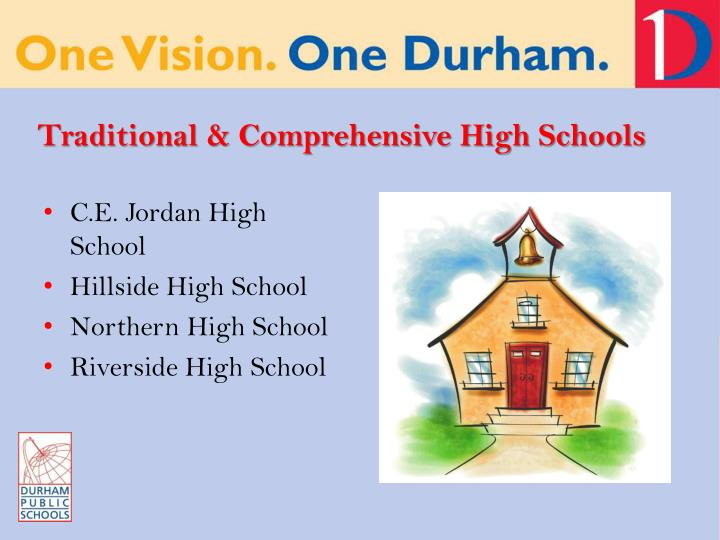 Traditional & Comprehensive High Schools