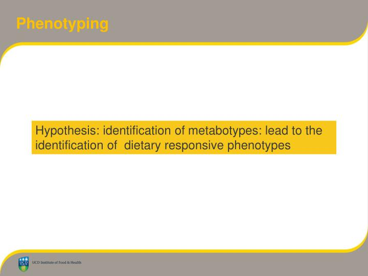 Phenotyping