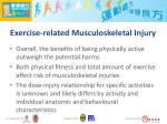 exercise related musculoskeletal injury1