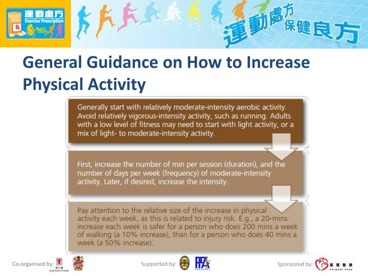 General Guidance on How to Increase Physical Activity