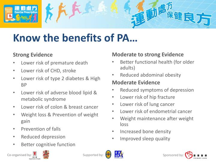 Know the benefits of PA…