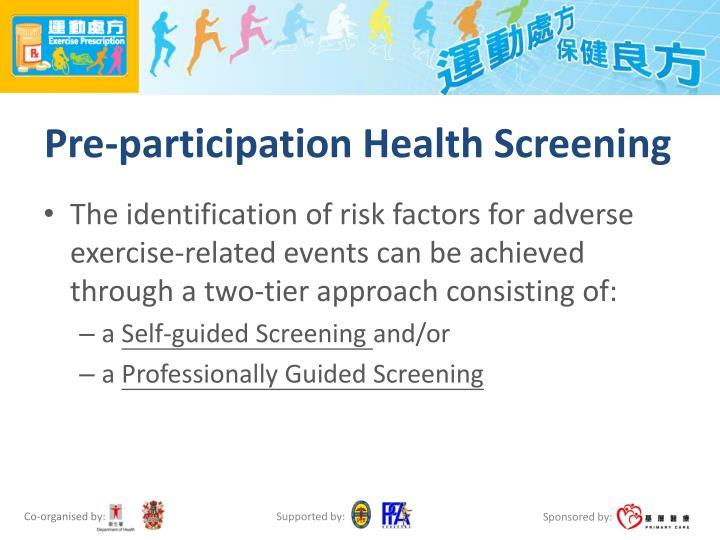 Pre-participation Health Screening