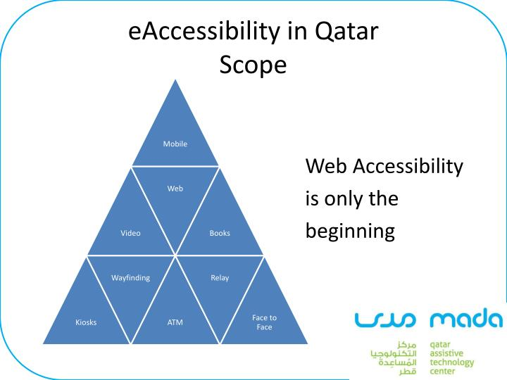 Eaccessibility in qatar scope
