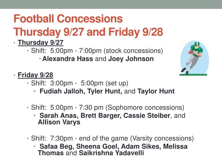Football Concessions
