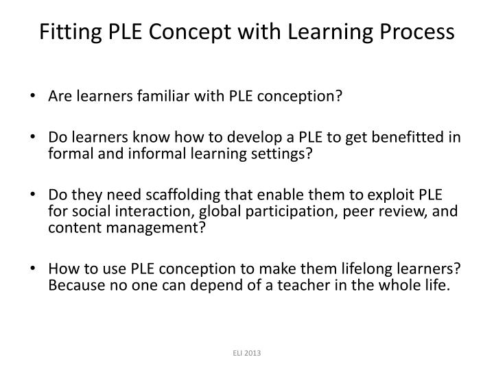 Fitting PLE Concept with