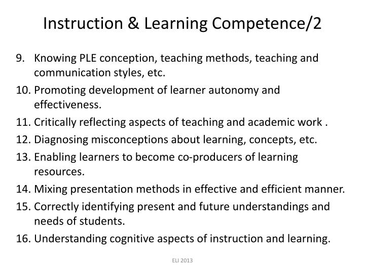 Instruction & Learning Competence/2