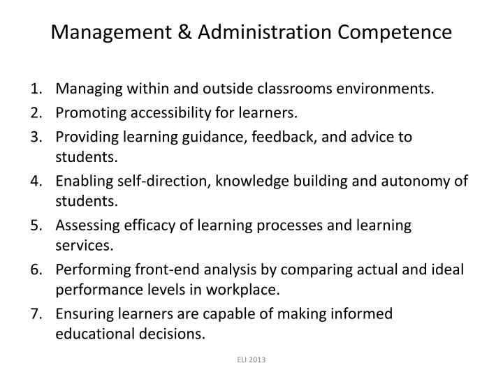Management & Administration Competence
