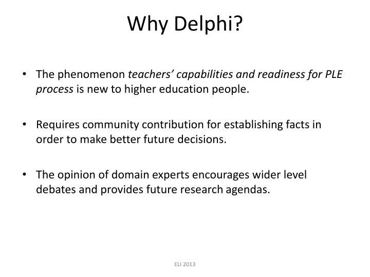 Why Delphi?