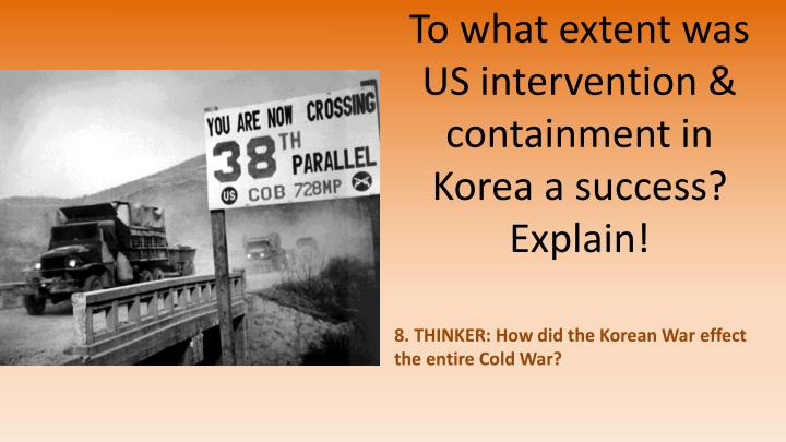korean war failure or success The korean war from 1950 to 1953 was the most severe test the united nations had to face since its inception in 1945 as part of the whole cold war scenario, the korean war was a complicated issue with which the united nations had to successfully deal with or lose credibility just five years after it had come into being.