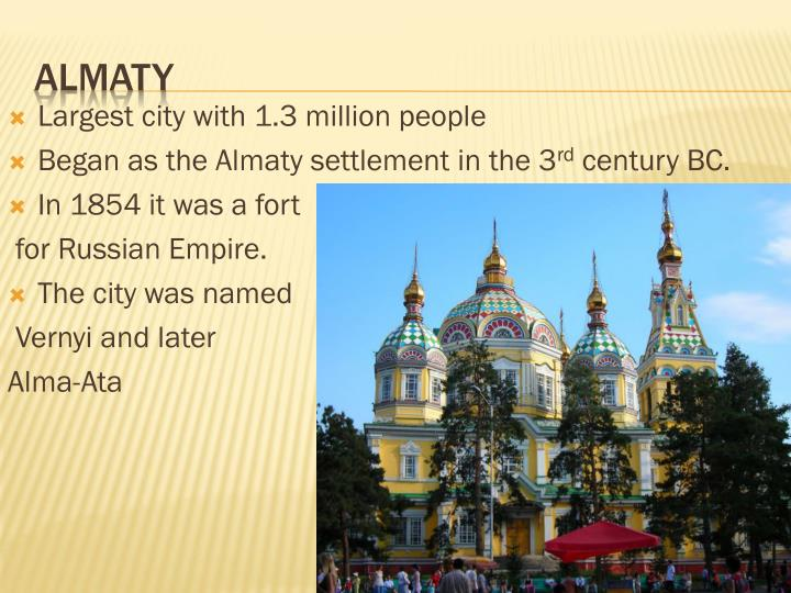 Largest city with 1.3 million people